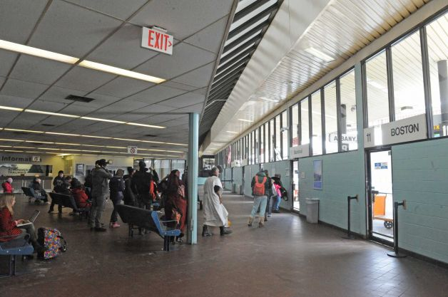 Photo by Michael P. Farrell/Times Union. From www.timesunion.com/local/article/Churchill-Albany-s-Greyhound-station-is-a-5320974