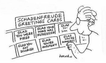 Image result for Schadenfreude cartoon images