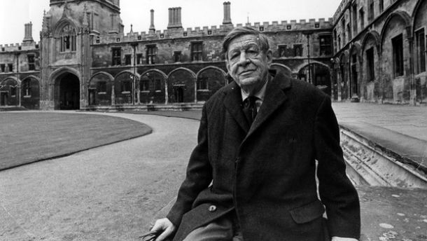 W.H. Auden at Oxford late in life
