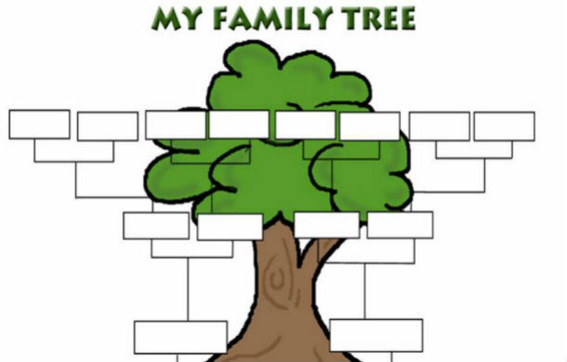 Blank Family Tree Template | cyberuse |Empty Family Tree