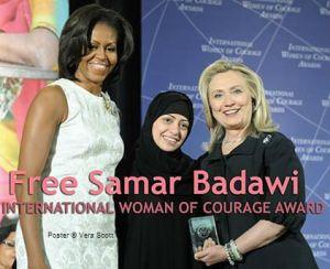 Michelle Obama, Samar Badawi, Hillary Clinton, 2012.