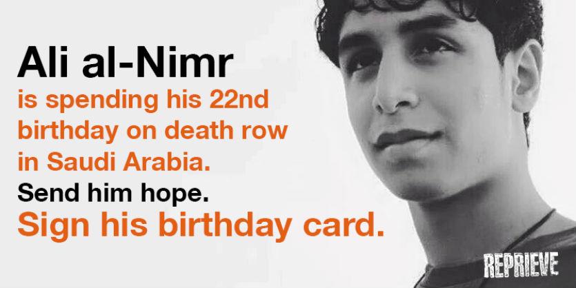 Five Birthdays In Prison For Ali Al Nimr